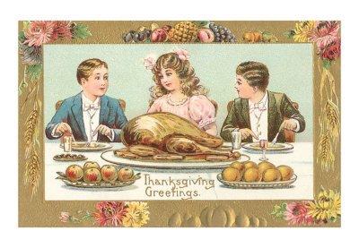 td-00075-dchildren-at-turkey-dinner-posters