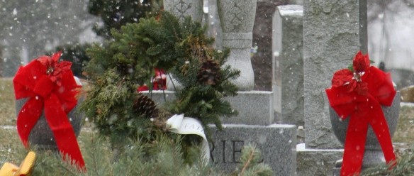 Grave at Christmas