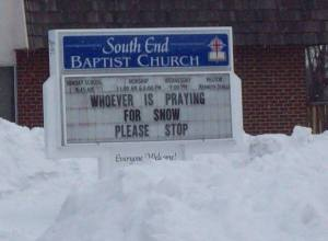 praying for snow