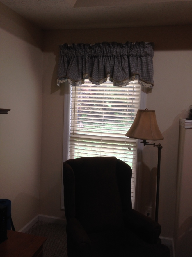 AFTER: New valance