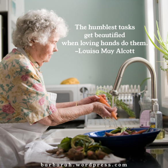 Louisa May Alcott quote about loving hands