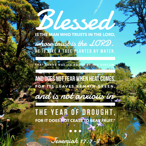 Blessed is the man who trusts the Lord, floruishing even in drought