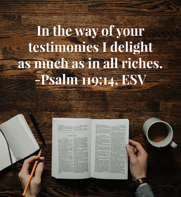 I delight in God's Word