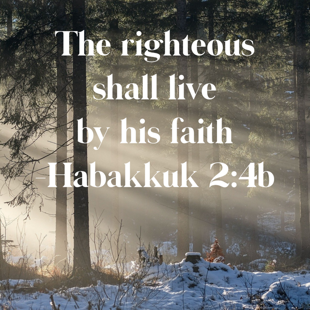 The righteous shall live by his faith