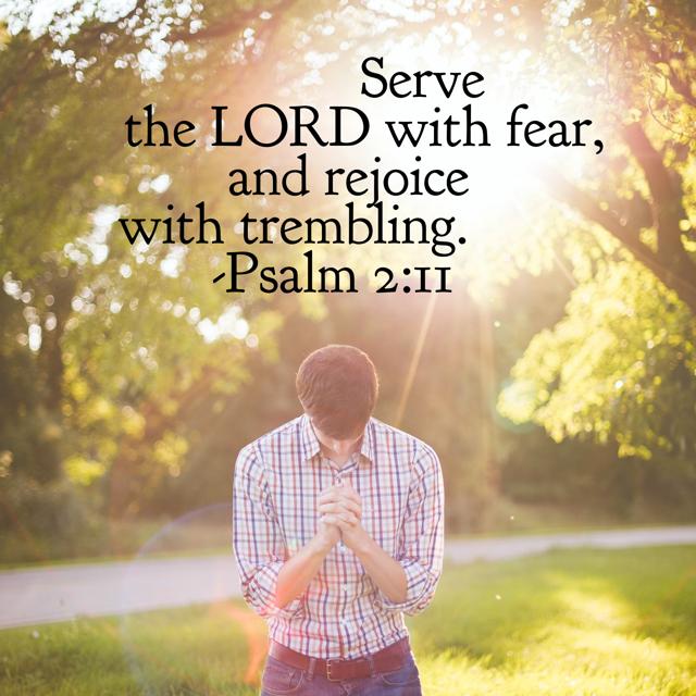Worship God with joy and awe